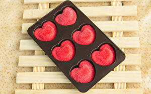 Обои День святого Валентина Сладости Конфеты Серце Еда