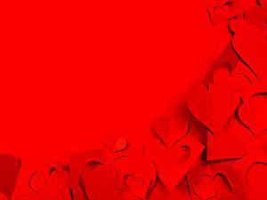 Фото День святого Валентина Шаблон поздравительной открытки Красный Сердце Красном фоне