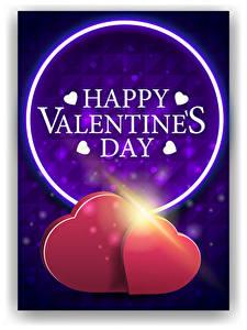 Фотография День святого Валентина Векторная графика Английский Слово - Надпись Сердечко Вдвоем Лучи света