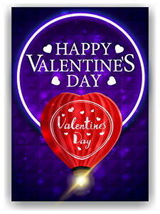 Картинки День всех влюблённых Векторная графика Английская Слова Сердечко