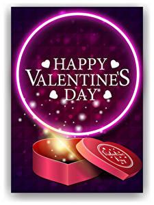 Фотографии День всех влюблённых Векторная графика Английская Слово - Надпись Сердце Подарков