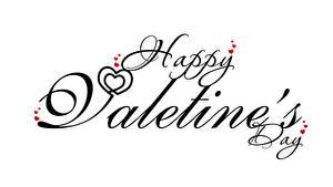 Фотографии День всех влюблённых Текст Английская Серце Белый фон
