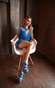 Фотографии Viacheslav Krivonos Сидит Платья Ноги Смотрит Кресло Kate девушка