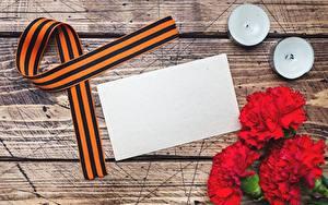 Картинка 9 мая Гвоздика Шаблон поздравительной открытки Ленточка цветок