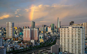 Обои Вьетнам Здания Реки Ho Chi Minh City