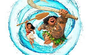 Фото Вода Моана Maui мультик Девушки