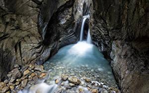Фото Водопады Камень Каньон Скала Ручей Природа
