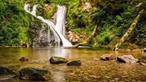 Фото Водопады Камень Ручей Природа