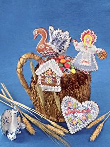Картинка Пшеница Сладкая еда Печенье Колос