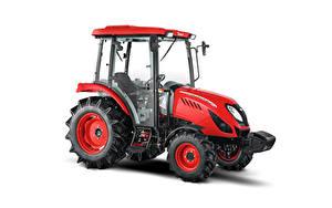 Фотографии Тракторы Красная Белом фоне Сбоку Zetor Utilix CL 55, 2019