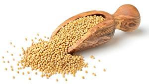 Обои Из дерева Белом фоне Зерна peas Продукты питания