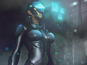 Обои Шлема sci-fi Фэнтези Девушки