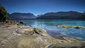 Обои для рабочего стола Чили Реки Гора Берег Cisnes Patagonia Природа