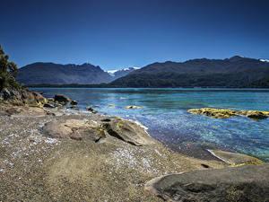Фото Чили Реки Гора Берег Cisnes Patagonia