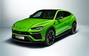 Фотография Lamborghini Зеленая Металлик CUV Urus Pearl Capsule 2020