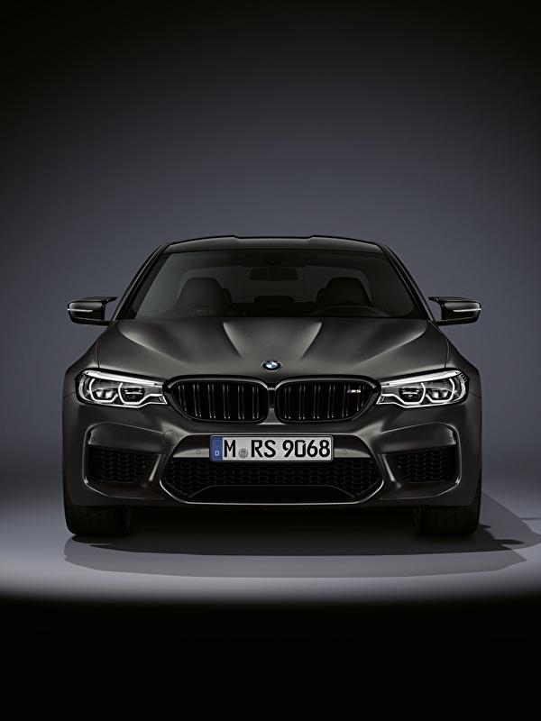 Картинка BMW M5 F90 2019 Edition 35 Years авто Спереди 600x800 для мобильного телефона БМВ машина машины Автомобили автомобиль
