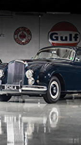 Фотографии Bentley Ретро Синий Металлик 1953-55 R-Type Continental Sports Saloon by Mulliner AT LHD Автомобили
