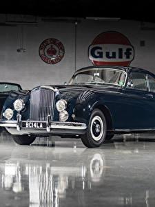 Фотографии Bentley Ретро Синий Металлик 1953-55 R-Type Continental Sports Saloon by Mulliner AT LHD Автомобили