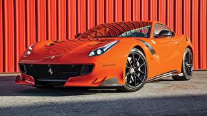 Фотографии Феррари Оранжевый Металлик 2016-17 F12tdf Авто