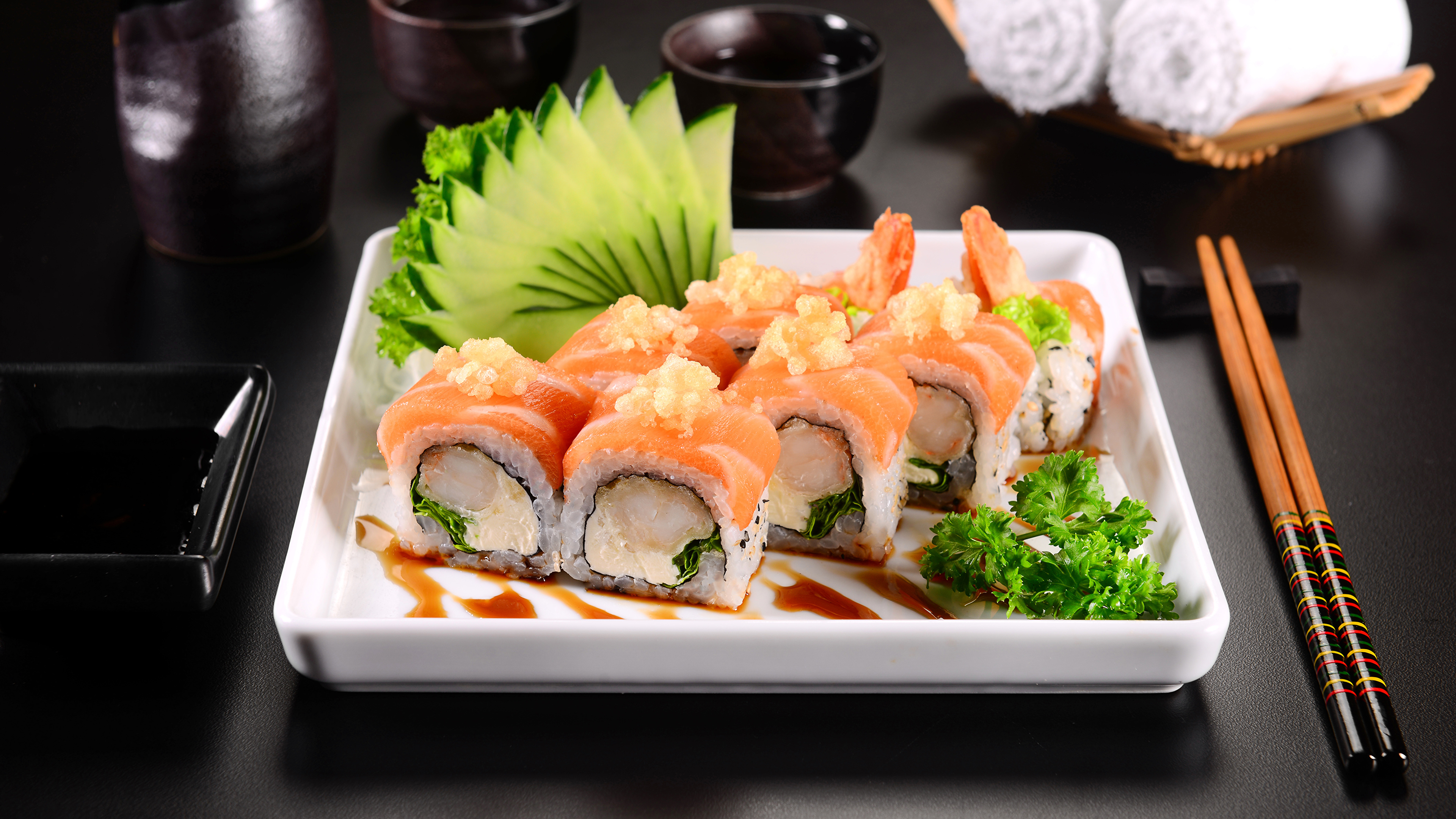 еда суши роллы японская кухня япония food sushi rolls Japanese kitchen Japan скачать