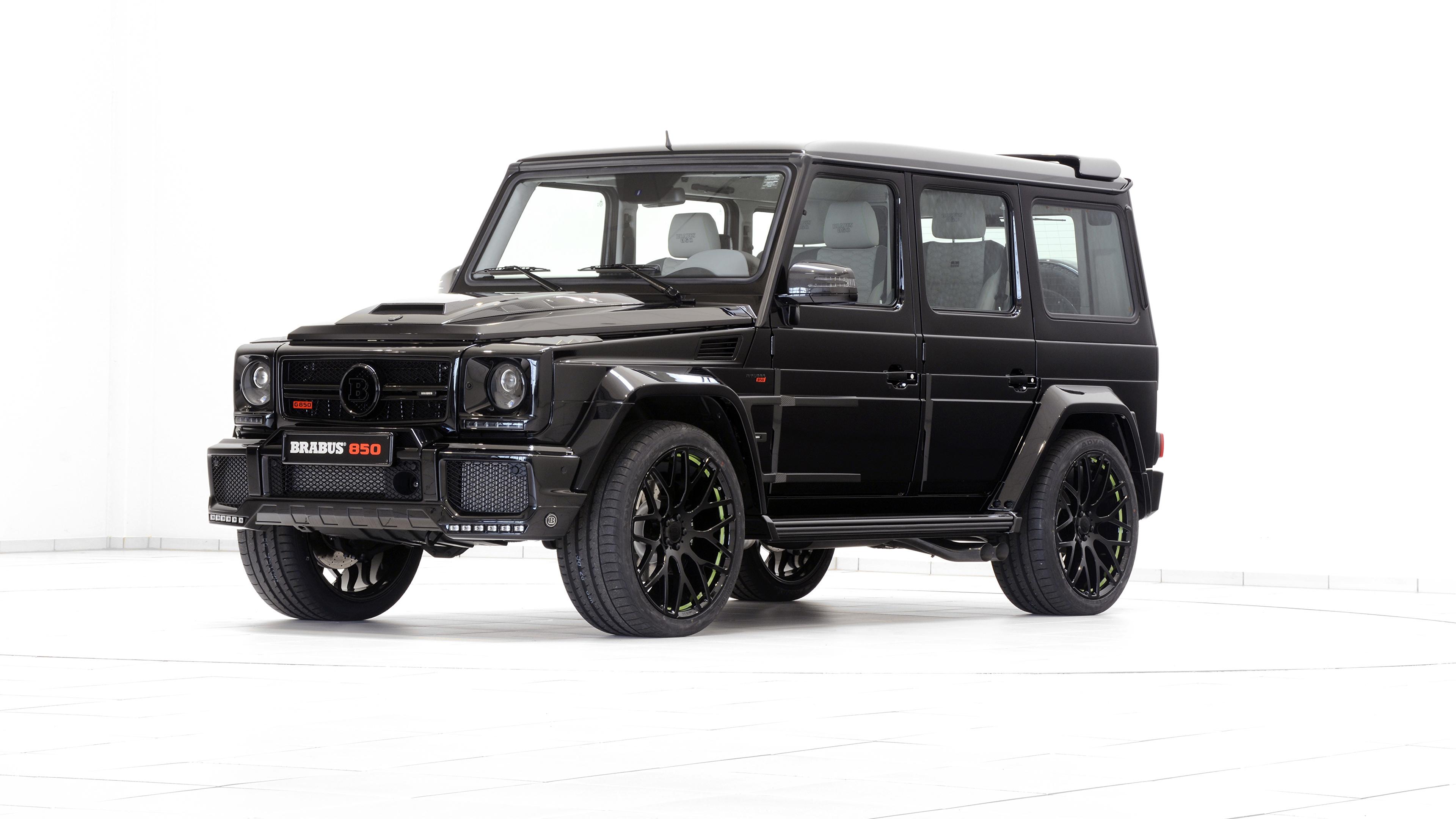 Фотография Mercedes-Benz G-класс W463 черных Автомобили 3840x2160 Мерседес бенц гелентваген Черный черные черная авто машина машины автомобиль