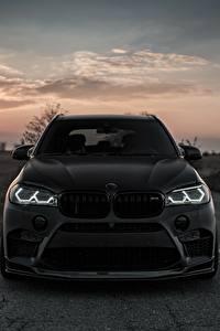 Картинки БМВ Спереди Черный 2018 X5M Z Performance Авто