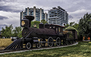 Картинка Канада Парк Поезда Дизайна Ottawa Ontario Природа