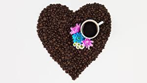 Картинки Кофе Зерна Сердечко Чашка