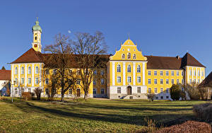 Картинка Германия Храмы Монастырь Kloster Maria Medingen Города