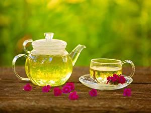 Фото Чайник Чай Чашка Блюдце Еда