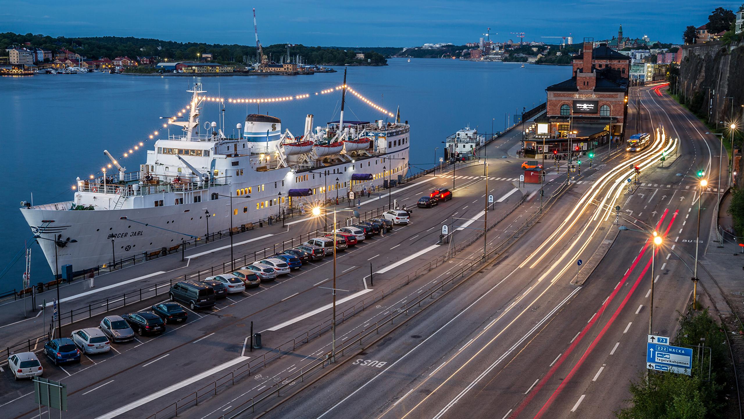 Обои корабль, швеция, дома, стокгольм, причал. Города foto 12