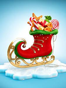 Фото Рождество Сладости Коньки Дизайн