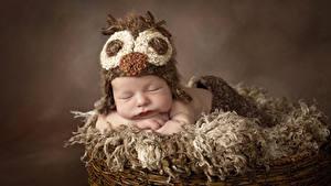 Картинка Младенца В шапке Сон Дети