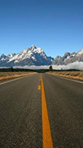 Картинка Гора Дороги Асфальт Природа