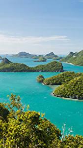 Фотографии Таиланд Тропики Парки Море Остров Ang Thong National Marine Park Природа