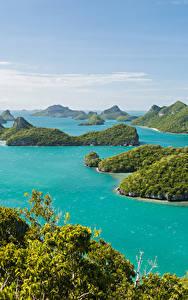 Фотографии Таиланд Тропики Парки Море Остров Ang Thong National Marine Park