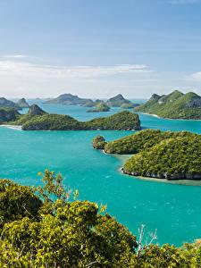 Фотографии Таиланд Тропический Парк Море Остров Ang Thong National Marine Park