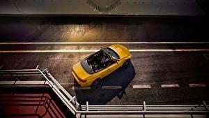 Картинка БМВ Желтый Кабриолет Сверху 2018 M4 Cabrio  30 Jahre Edition Worldwide автомобиль