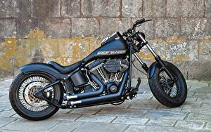 Картинка Harley-Davidson Сбоку Черный Мотоциклы