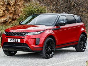 Картинка Land Rover Красный Металлик Кроссовер 2019 Evoque D240 S Black Pack Worldwide Автомобили