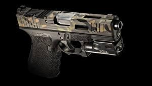 Обои Пистолетом Крупным планом Черный фон Mk 2, Glock 19 Армия