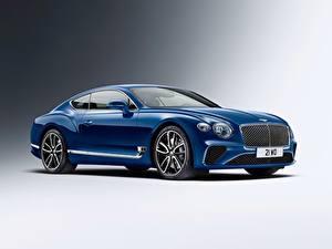 Обои для рабочего стола Бентли Синяя Металлик Continental GT 2018 авто