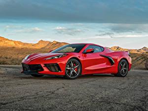 Обои Chevrolet Красные Металлик 2020 Corvette Stingray Z51 машина