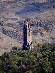 Фото Шотландия Гора Дерева Башни Wallace Monument Stirling, Stirling