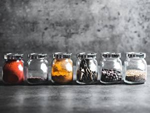 Обои Специи Перец чёрный Банке oregano, chilli peppers Еда