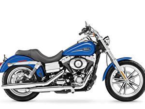 Обои Harley-Davidson Белый фон Сбоку 2007 FXDL Dyna Low Rider