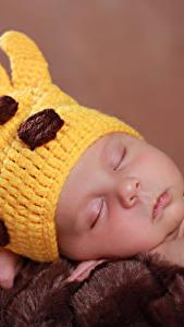 Картинки Младенец Шапки Спят