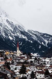 Обои Гора Дома Австрия Arlberg Tirol