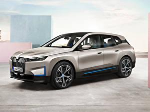 Картинки BMW Кроссовер Серый Металлик iX, Worldwide, (i20), 2021 автомобиль