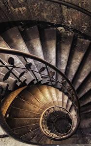 Фотографии Старинные Лестницы Сверху